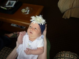 How stinkin' cute is Shanna's daughter with this little flower headpiece on?  She and all the other babies who came along with their Moms gave me some serous baby fever.