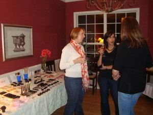 Chatting in front of the ELF makeup