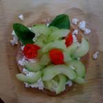 Nate's Ricotta, Tomato, Fresh Basil & Cucumber Pizza