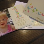 Tiny Prints for First Birthday Invitations, Thank You Notes and Return Address Labels