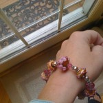 Day 7 - wore this cute pink beaded bracelet I've had for ages