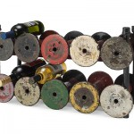 Love this Textile Spool Wine Rack