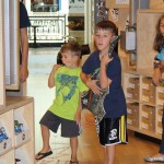 My boys (and Girlymama.com's daughter) rock out to the in-store music