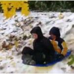 Video:  #Snowtober Sledding in #Philly