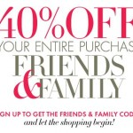 Friends & Family Coupon Code: 40% off EVERYTHING at AnnTaylor.com