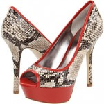Guess Snakeskin Heels on Sale on Zappos.com