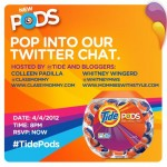 #TidePods Twitter Chat, April 4th at 8pmET – Washer/Dryer #Giveaway!