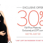 Special Offer: 30% off Ann Taylor Loft Maternity, Thru July 22nd
