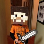 How To Make A Minecraft Steve Head Halloween Costume