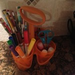 I Cleaned Up My Kitchen Counters!  Love the Fiskars Art Caddy