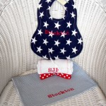 Newborn Gift Idea: Personalized Burp Cloth & Bib Set from BabySophiaGifts.com. Free Shipping 'til Feb 28th!