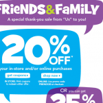20% Off at ToysRUs.com with Family & Friends Coupon