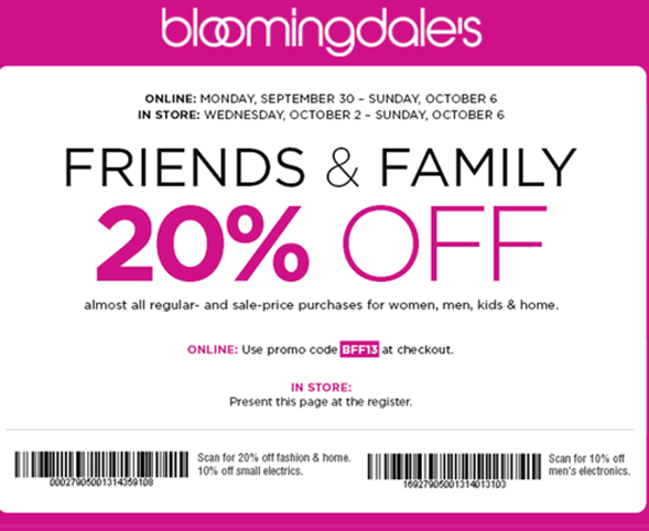 Bloomingdales promo codes black friday