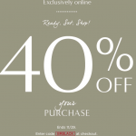 #BlackFriday 40% off your ENTIRE PURCHASE At BananaRepublic.com TODAY ONLY