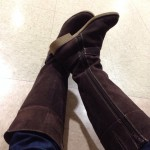 Women's Suede Chalet Tall Lands End Boots, Normally $129.99 on Sale for $44.99!