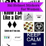 Ski Helmet Stickers for Women
