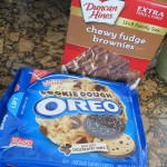 OREO Cookie Dough Brownies #Pinspiration #Recipe
