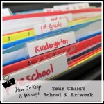 The Best Way to Organize Your Kid's Important School Year Artwork & Papers #Pinspiration