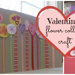 Valentine's Flower Collage: A Craft For All Your Leftover Stickers & Goodies #Pinspiration