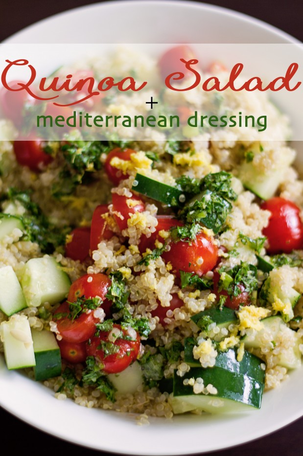 Quinoa Salad and Mediterranean Dressing-6