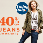 40% off Jeans at OldNavy.com Today Only