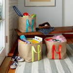 Awesome Easter Basket Idea: Color Fill Jute Floor Bin from Land of Nod
