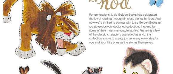 Land of Nod Gets Little Golden Books Designs