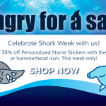 30% off Mabel's Label's Shark Labels in Honor of Shark Week #SharkWeek