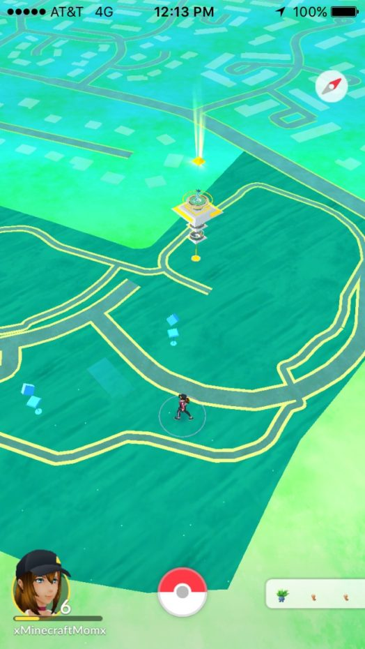 Team Yellow gym in the distance at my local party