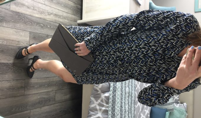 What I Wore: Gap & Banana Republic Shirtdress; Charcoal Everyday Clutch #ootd
