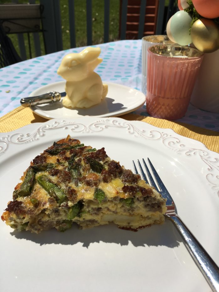 Crustless asparagus sausage cheese quiche secret for The best quiche ever