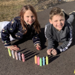 Kid Review:  Spring is Coming!  Sidewalk Chalk Time!